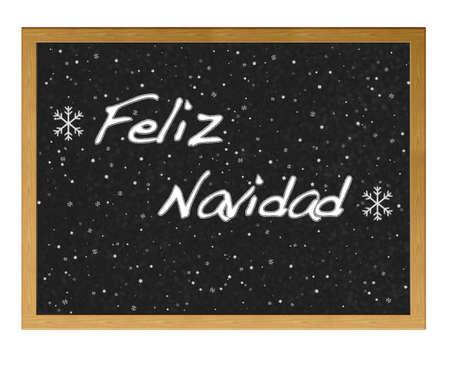 Blackboard with Merry Christmas. Stock Photo - 12554849