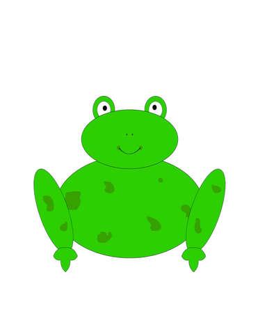 Isolated frog.