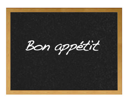 iIlustration with blackboard and bon appetit. photo