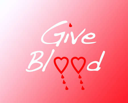 Illustration on give blood. illustration