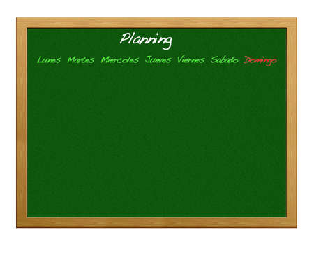 Greenboard with planning  Stock Photo - 12554903