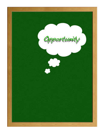 probability: Greenboard with Opportunity.