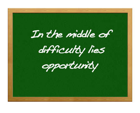 adversity: Greenboard with Opportunity.