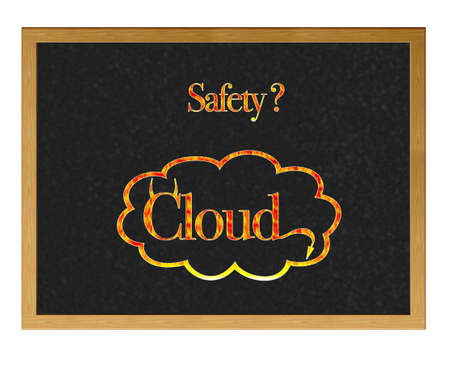 Isolated blackboard with Safety cloud. Stock Photo - 12555000