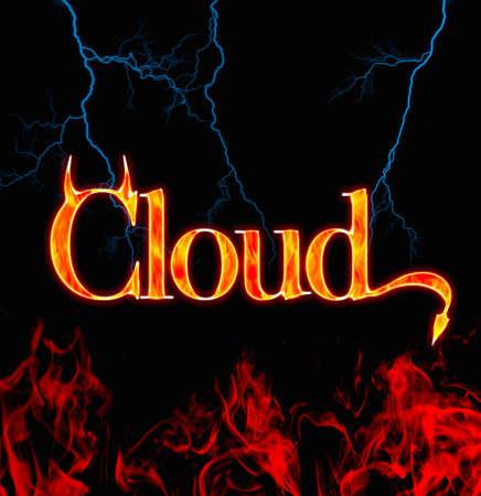 secret identities: Safety cloud. Stock Photo
