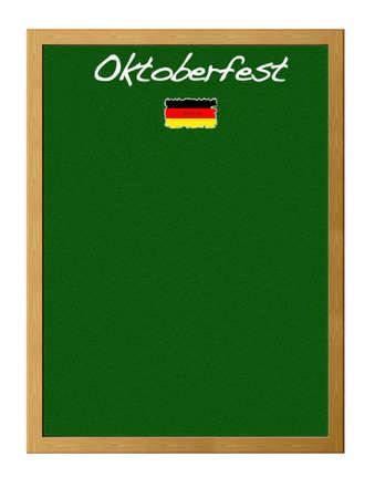 Isolated blackboard with Oktoberfest. Stock Photo - 12880985