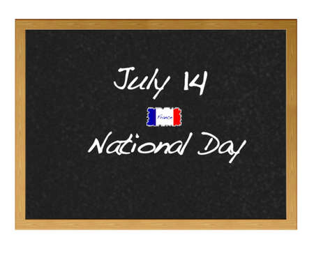 Isolated blackboard with National day France. Stock Photo - 12880989