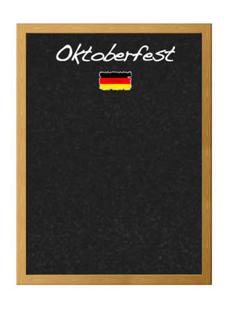Isolated blackboard with Oktoberfest. photo