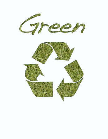 illustration with green recycle Stock Illustration - 12881194
