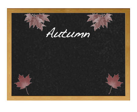 Isolated blackboard with autumn  photo