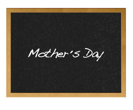Isolated blackboard with Mother day. Stock Photo - 12881204