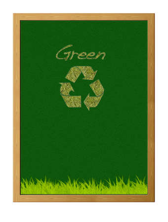 illustration with green recycle. Stock Illustration - 13107377