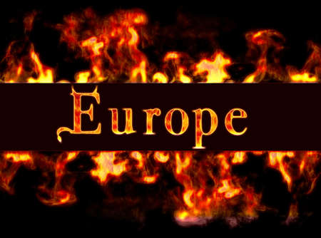 busyness: Europe with framework of fire.