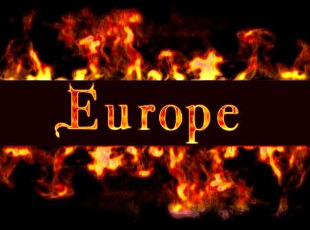 burning money: Europe with framework of fire.