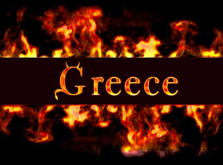 busyness: Greece with framework of fire.