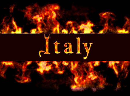busyness: Italy with framework of fire.