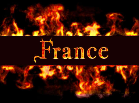 busyness: France with framework of fire. Stock Photo