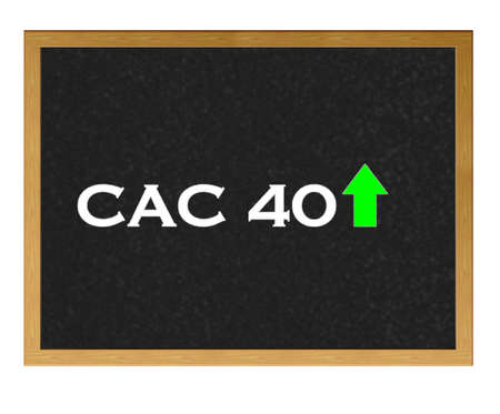 Isolated Blackboard With Cac 40 Negative Stock Photo