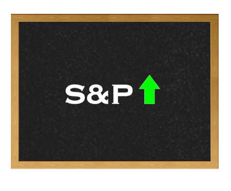 Isolated blackboard with S&P positive. Stock Photo - 13107547
