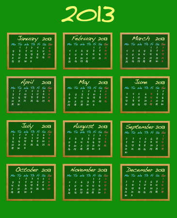 Calendar 2013. Stock Photo - 13107536
