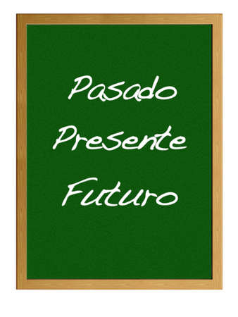 Isolated blackboard with past, now, future. Stock Photo - 13107535