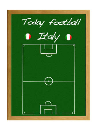 Illustration blackboard with Live football Italy. illustration