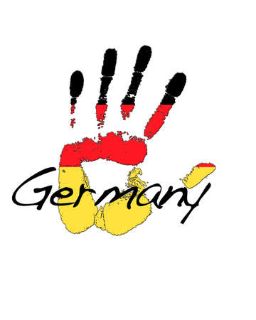 Hand painted flag of Germany.