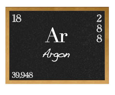 Isolated blackboard with pedic table, Argon. Stock Photo - 13123326