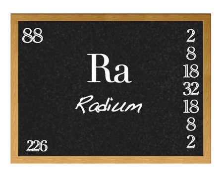 Isolated blackboard with periodic table, Radium. Stock Photo - 13123347