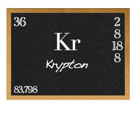 Elemento de la tabla peridica con smbolo kr kriptn fotos 13151285 pizarra aislada con la tabla peridica krypton urtaz Gallery