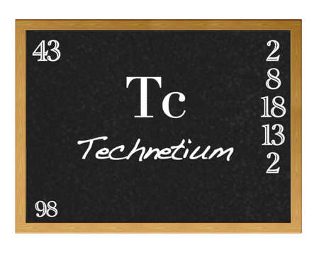 Isolated blackboard with periodic table, Technetium  photo