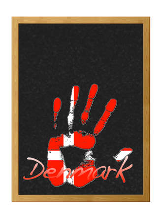 Isolated blackboard with hand painted of Denmark. Stock Photo - 13151367