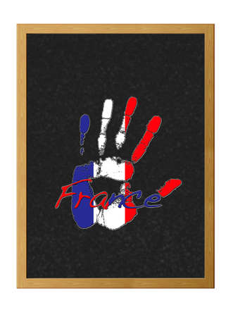 Hand painted flag of France.