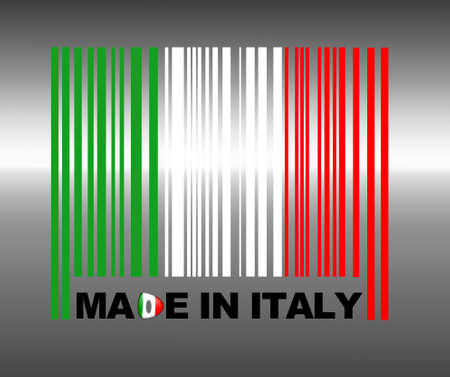 materialism: Barcode Italy. Stock Photo