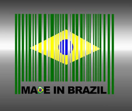 Barcode Brazil. photo
