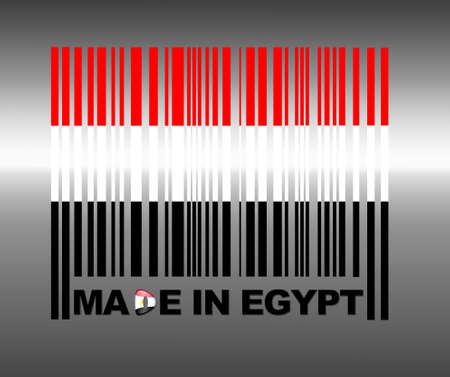 flag of egypt: Barcode Egypt. Stock Photo