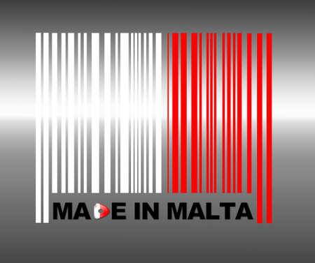 malta flag: Barcode Malta.