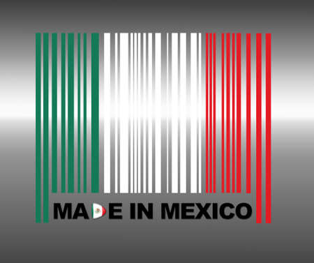 Barcode Mexico. photo