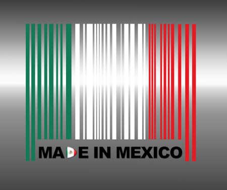 flag of mexico: Barcode Mexico.