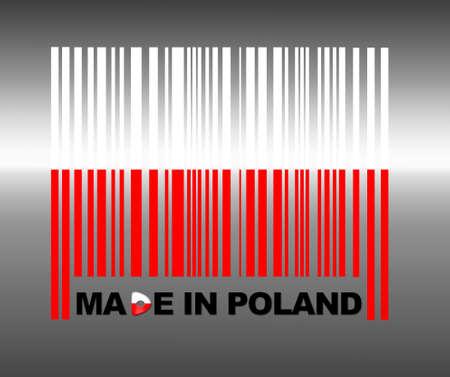 Barcode Poland. Stock Photo
