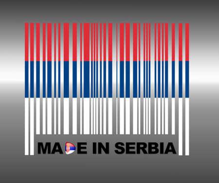 serbia flag: Barcode Serbia.