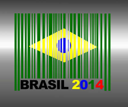 Barcode Brasil 2014  Stock Photo - 13194863