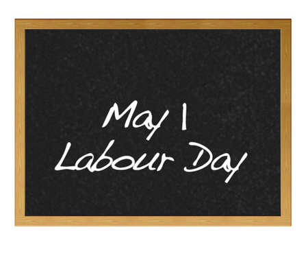 Isolated blackboard with Labour Day  photo