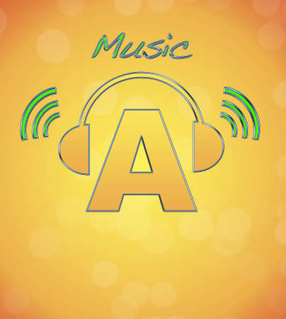 A, music logo  photo