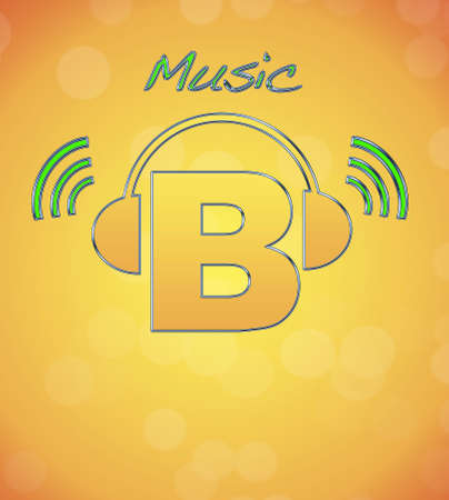 B, music logo  photo