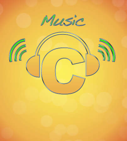 C, music logo  photo