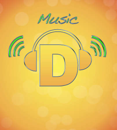 D, music logo Stock Photo - 13194822