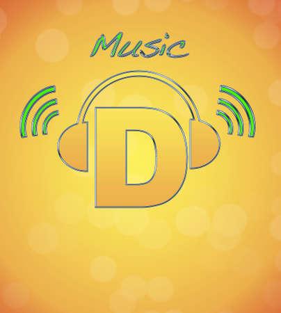 D, music logo Stock Photo - 13194822