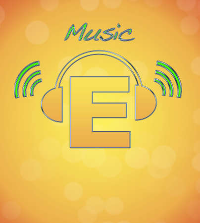 E, music logo  photo