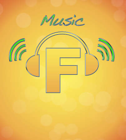 F, music logo. Stock Photo - 13194876